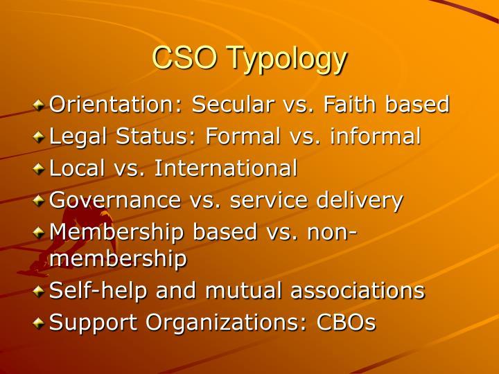 CSO Typology