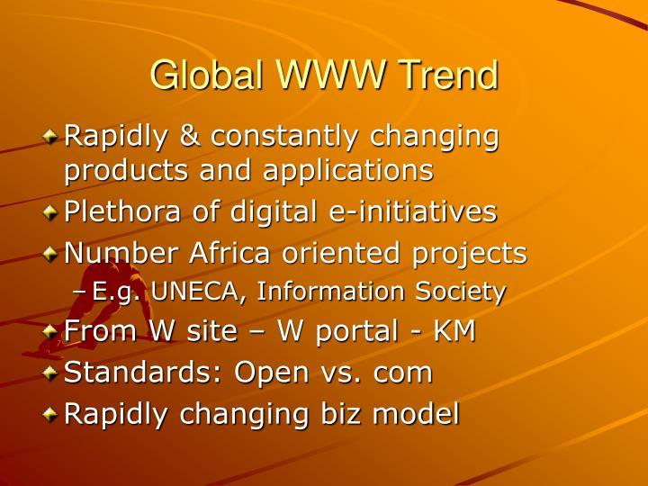 Global WWW Trend