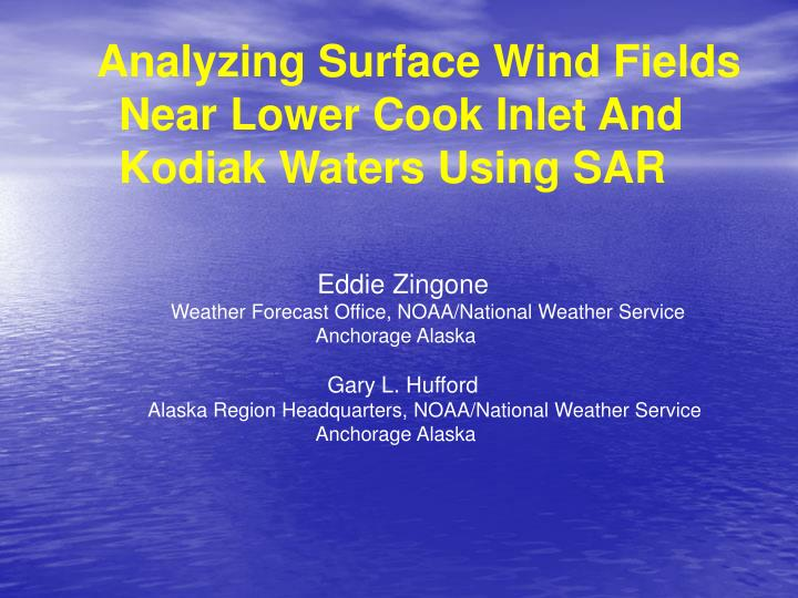 Analyzing Surface Wind Fields