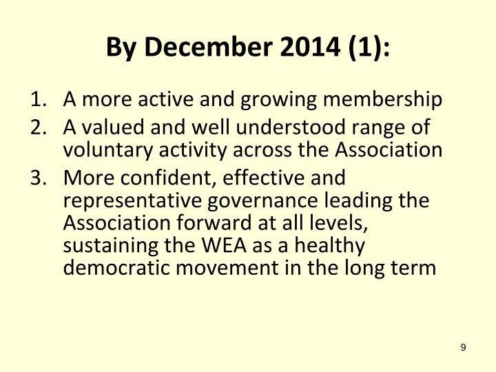 By December 2014 (1):