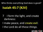 who thinks everything god does is good