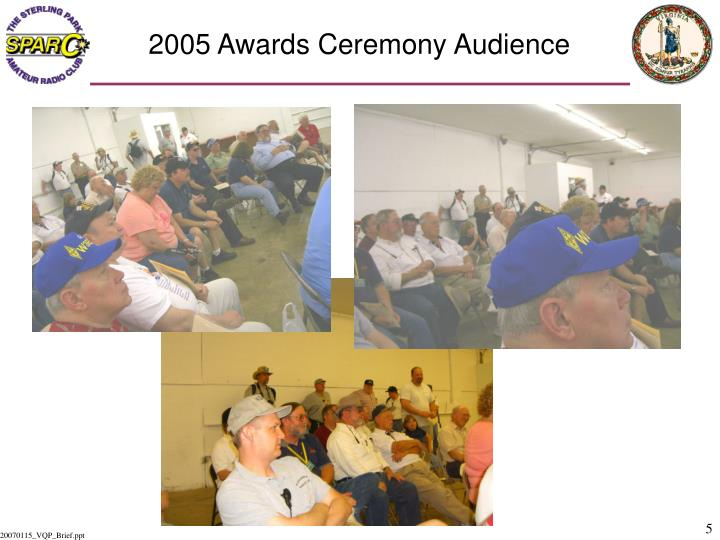 2005 Awards Ceremony Audience