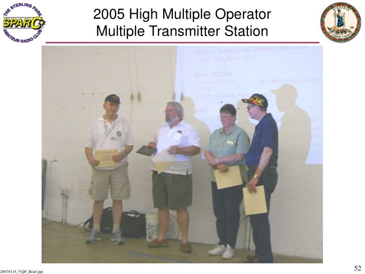2005 High Multiple Operator
