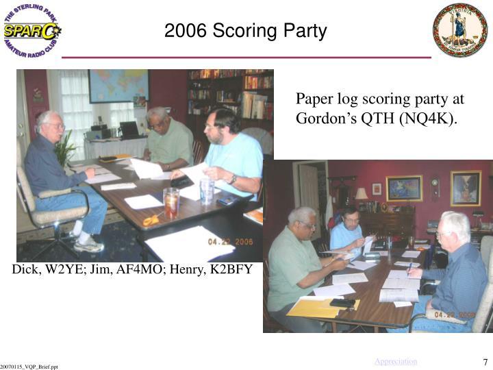 2006 Scoring Party