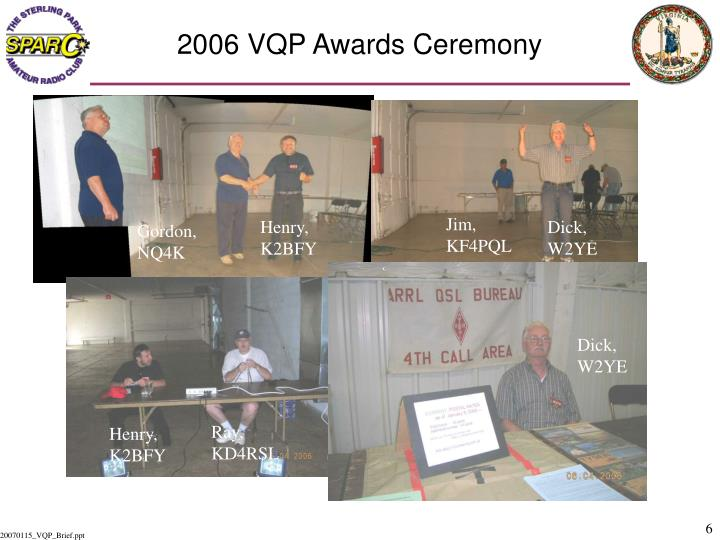 2006 VQP Awards Ceremony