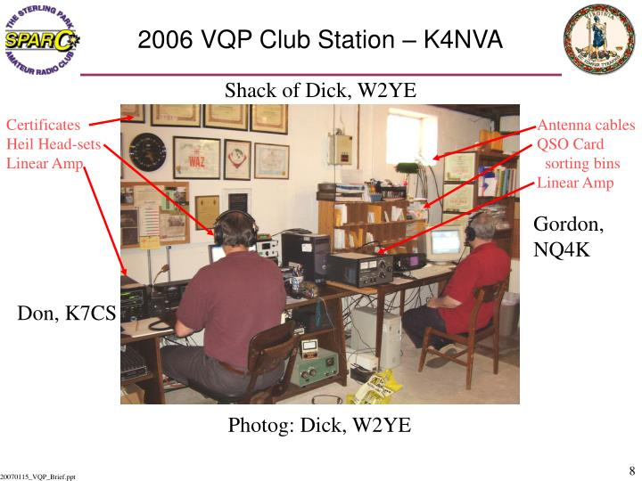 2006 VQP Club Station – K4NVA