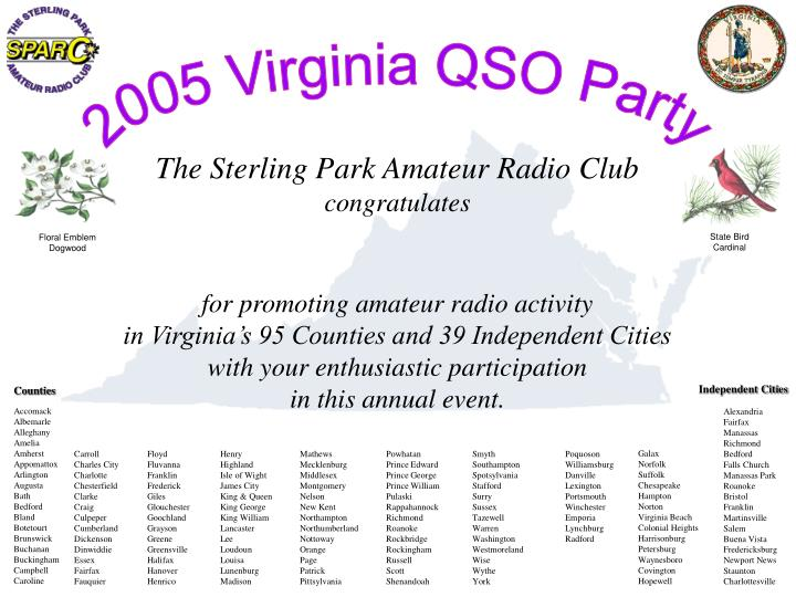 2005 Virginia QSO Party