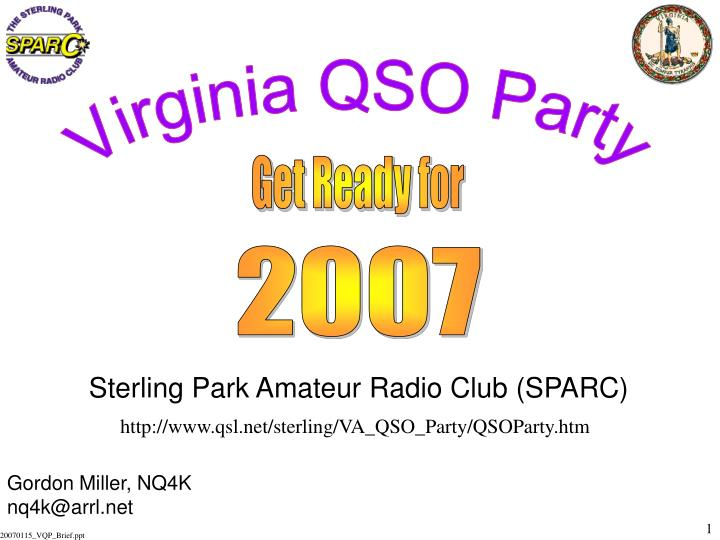Sterling park amateur radio club sparc