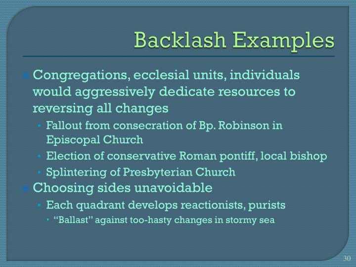 Backlash Examples