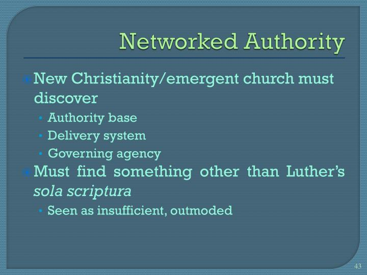 Networked Authority