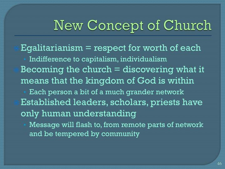 New Concept of Church