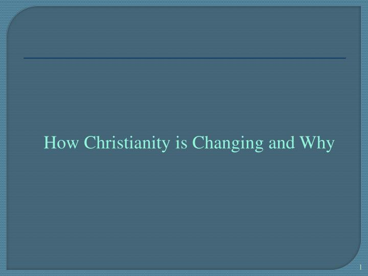 How Christianity is Changing and Why