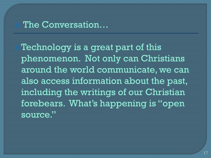 The Conversation…