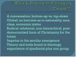 what is emergent emerging church
