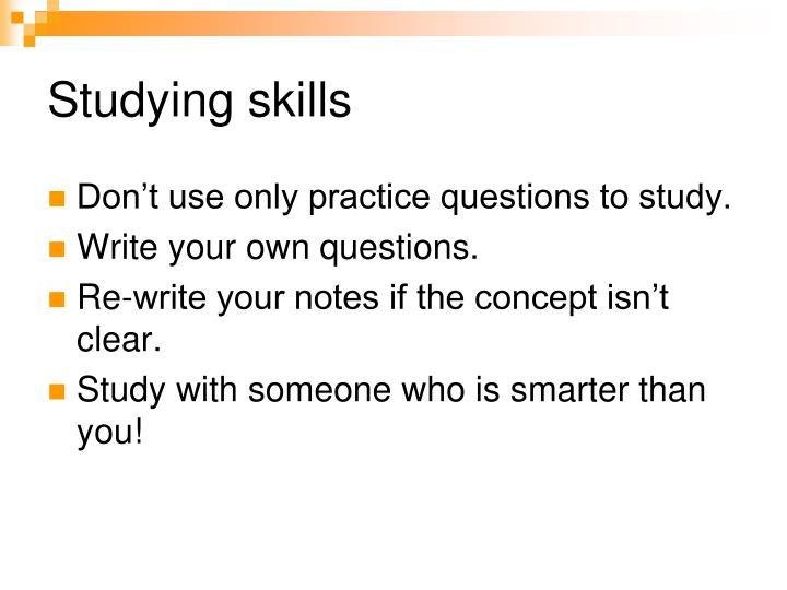 Studying skills