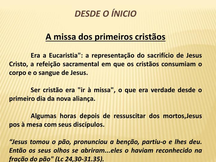 DESDE O NICIO