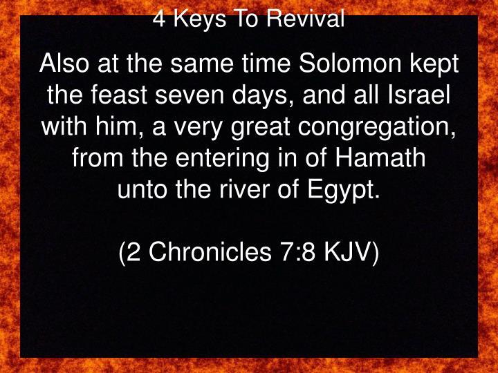 4 Keys To Revival