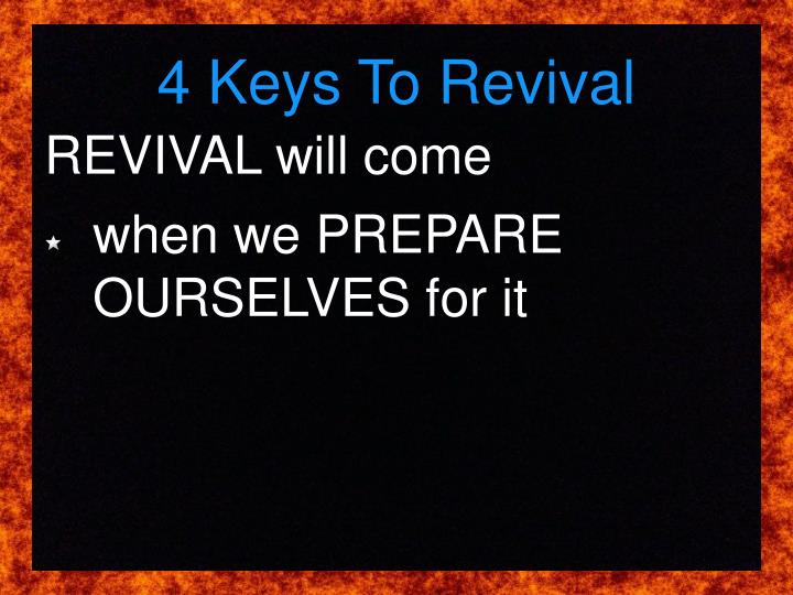 4 Keys To Revival