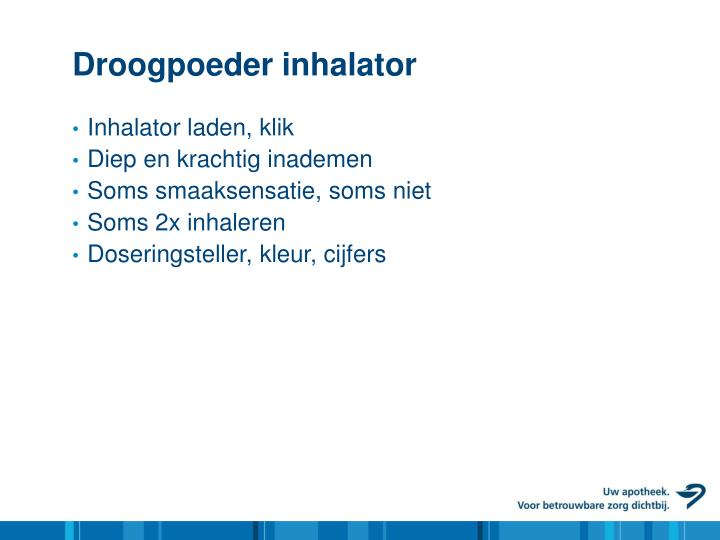Droogpoeder inhalator