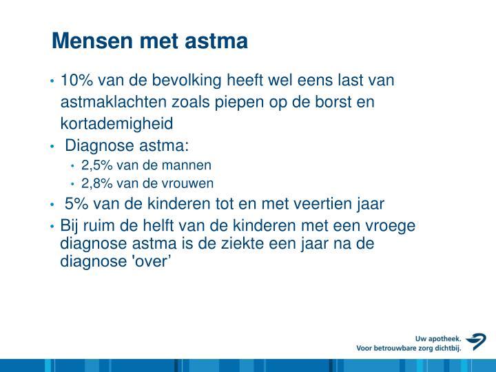 Mensen met astma