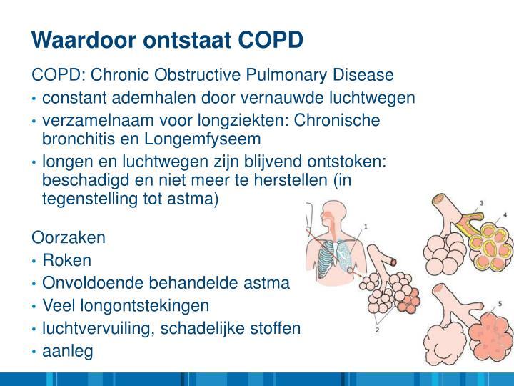 Waardoor ontstaat COPD