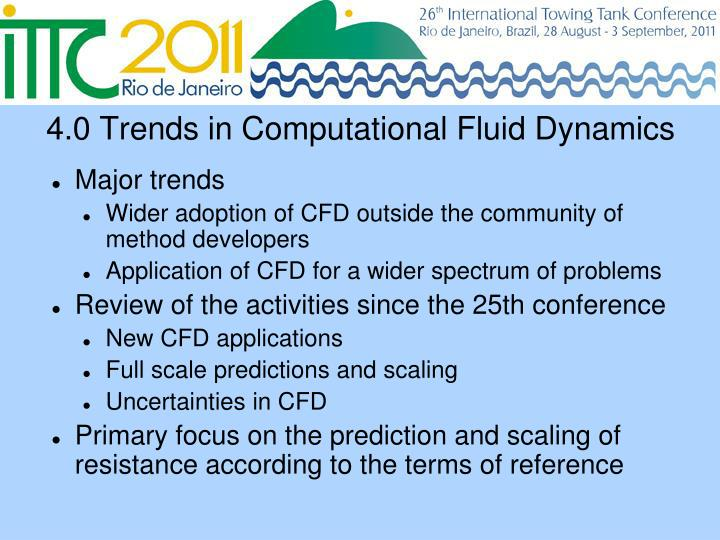 4.0 Trends in Computational Fluid Dynamics