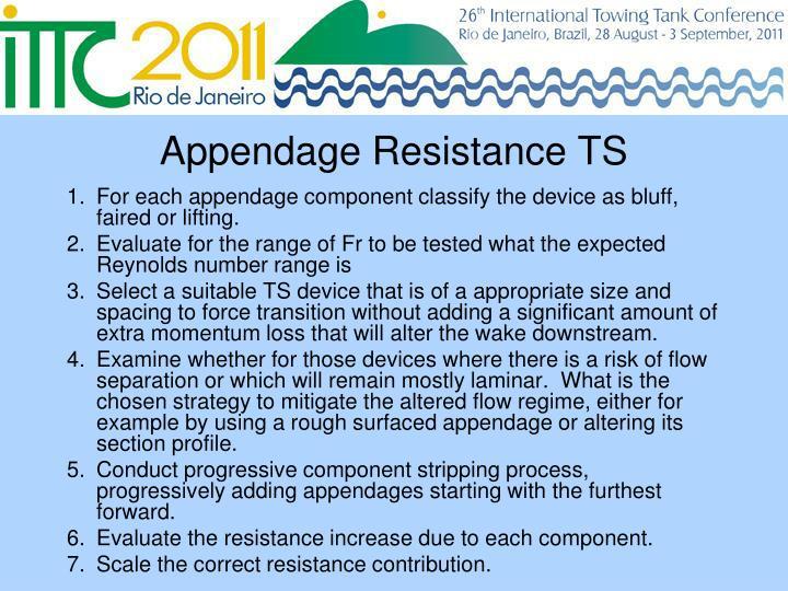 Appendage Resistance TS