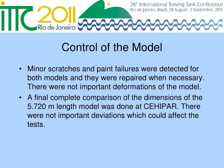 Control of the Model