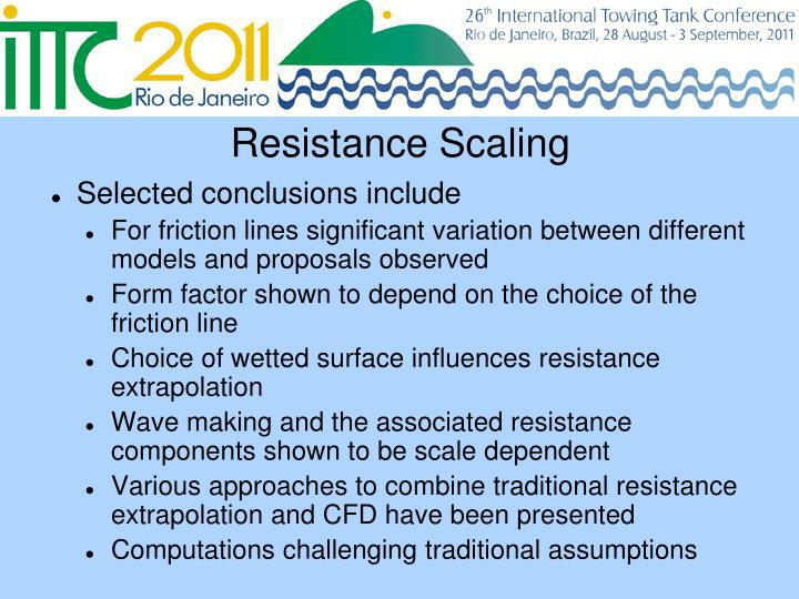Resistance Scaling