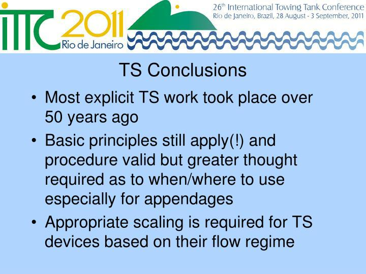 TS Conclusions