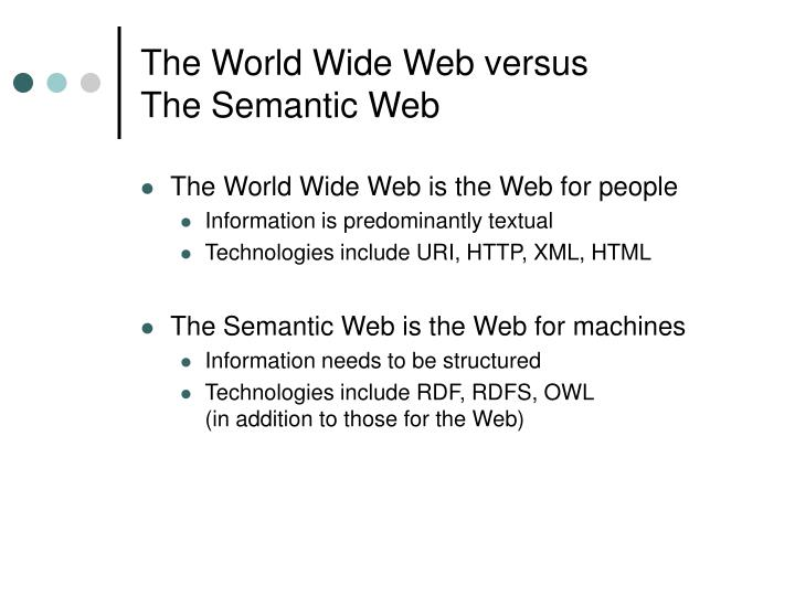 The World Wide Web versus