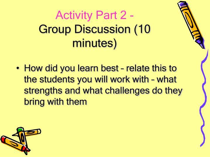 Activity Part 2 -