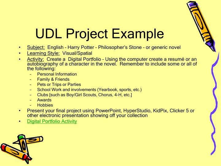 UDL Project Example