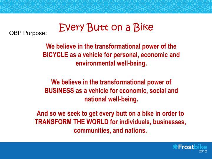Every Butt on a Bike
