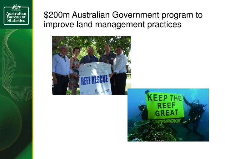 $200m Australian Government program to improve land management practices