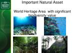 important natural asset world heritage area with significant biodiversity value