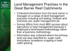land management practices in the great barrier reef catchments