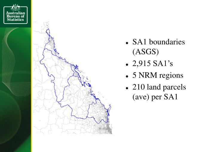 SA1 boundaries (ASGS)