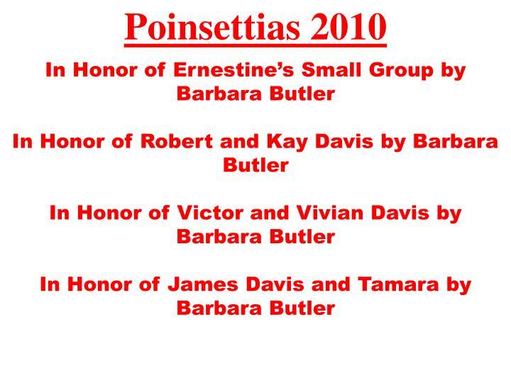 Poinsettias 2010