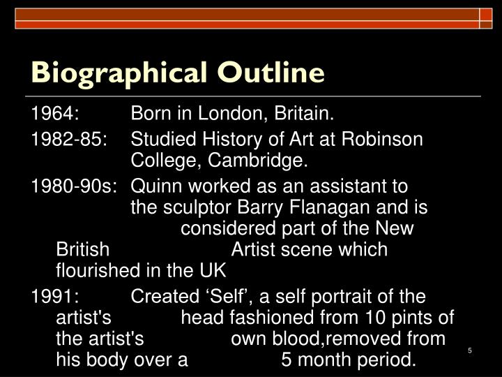 Biographical Outline