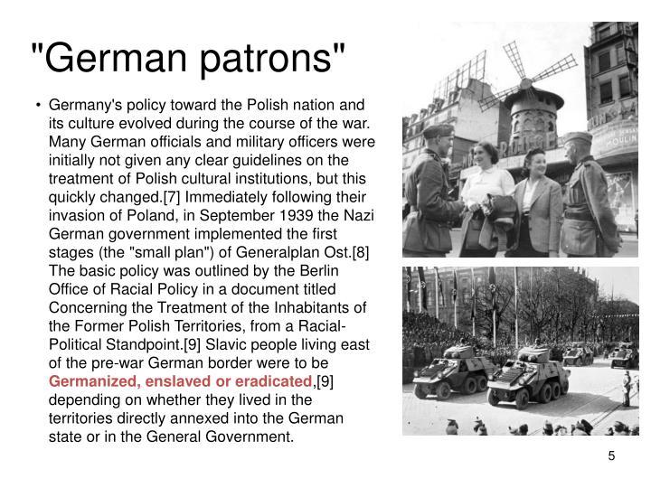 """German patrons"""