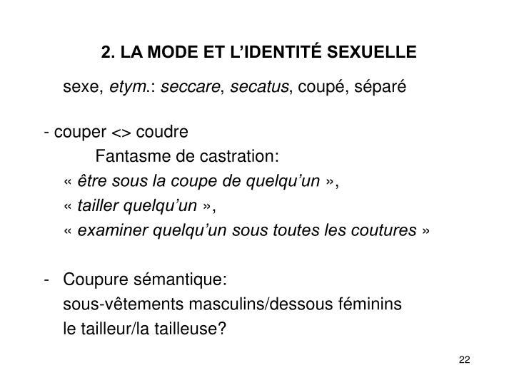 2. LA MODE ET L'IDENTITÉ SEXUELLE