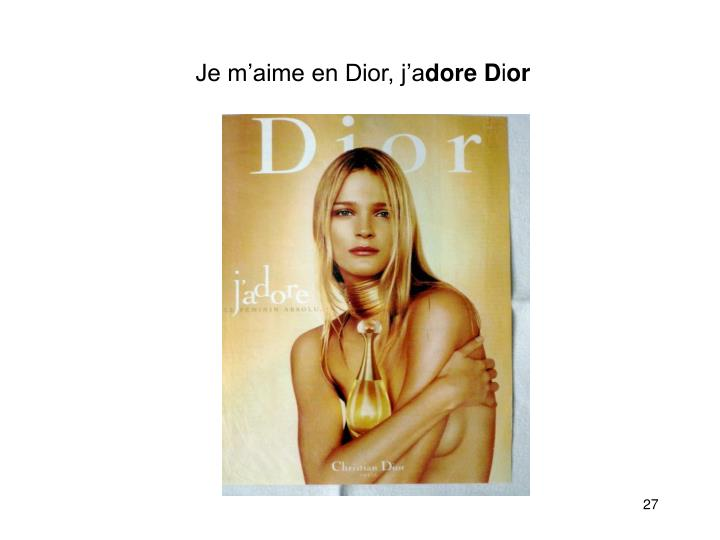 Je m'aime en Dior, j'a