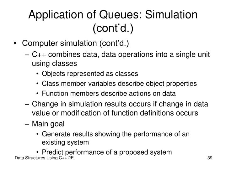 Application of Queues: Simulation (cont'd.)