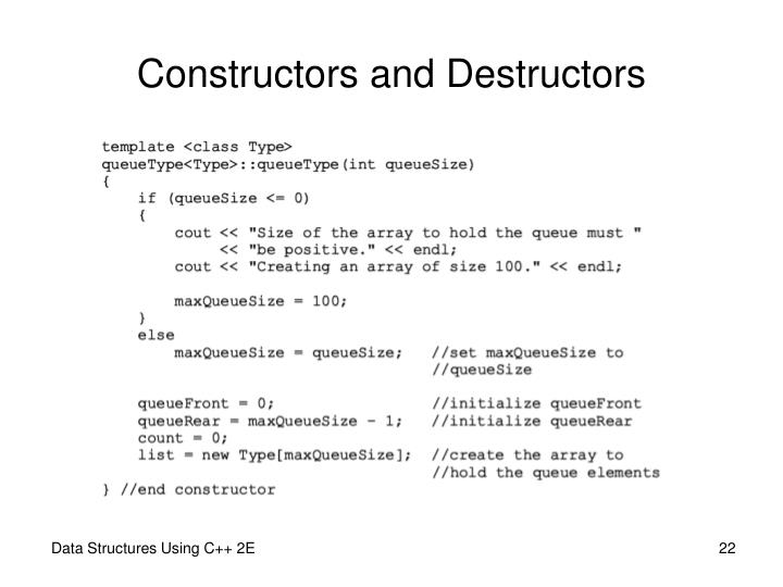 Constructors and Destructors