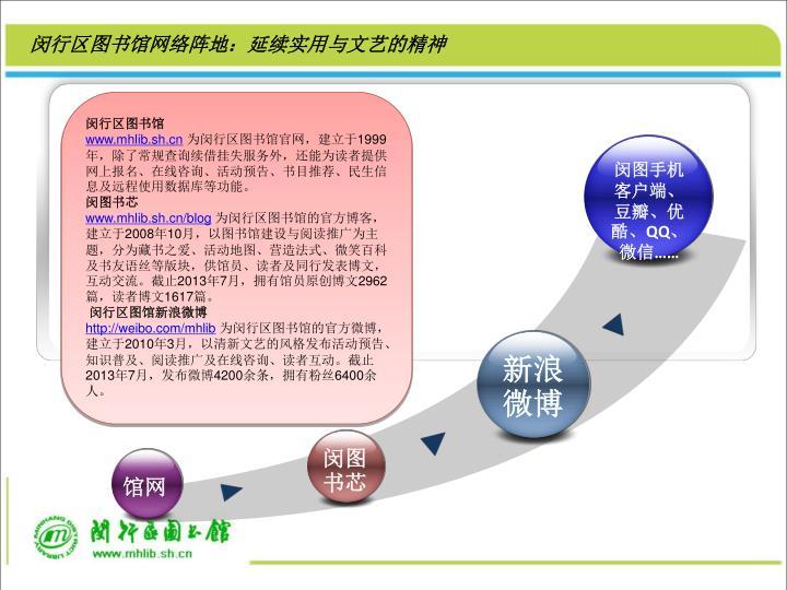闵行区图书馆网络阵地:延续实用与文艺的精神