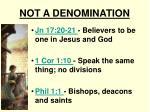 not a denomination