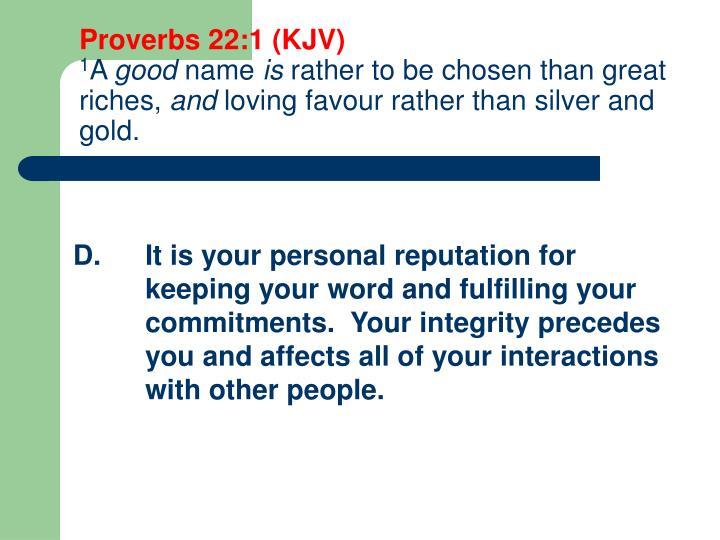 Proverbs 22:1 (KJV)