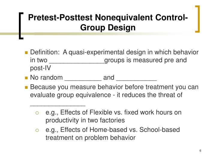 Pretest-Posttest Nonequivalent Control-Group Design