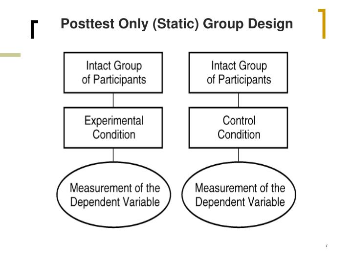 Posttest Only (Static) Group Design